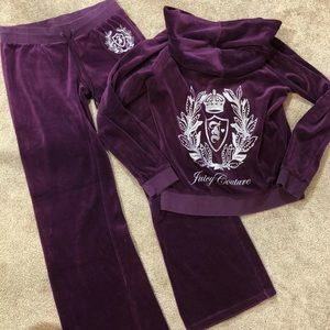 JUICY COUTURE TRACKSUIT HOODIE M PANTS S BLING